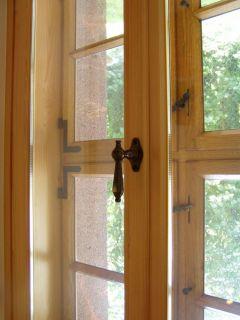Kreuzstock-Kastenfenster, Innenseite mit Isolierglas