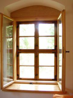 Kreuzstockfenster als Kastenfenster, Innenfenster mit Isolierglas